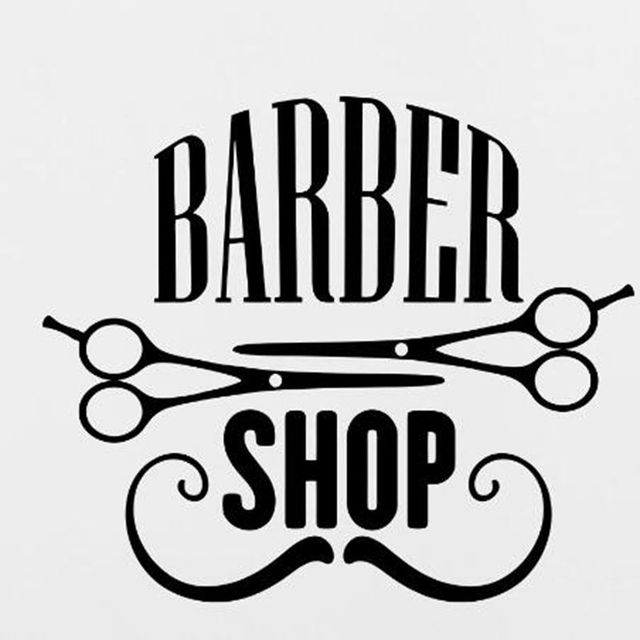 Barbershop Vinyl Wall Decal Sticker Scciors BARBER SHOP ...