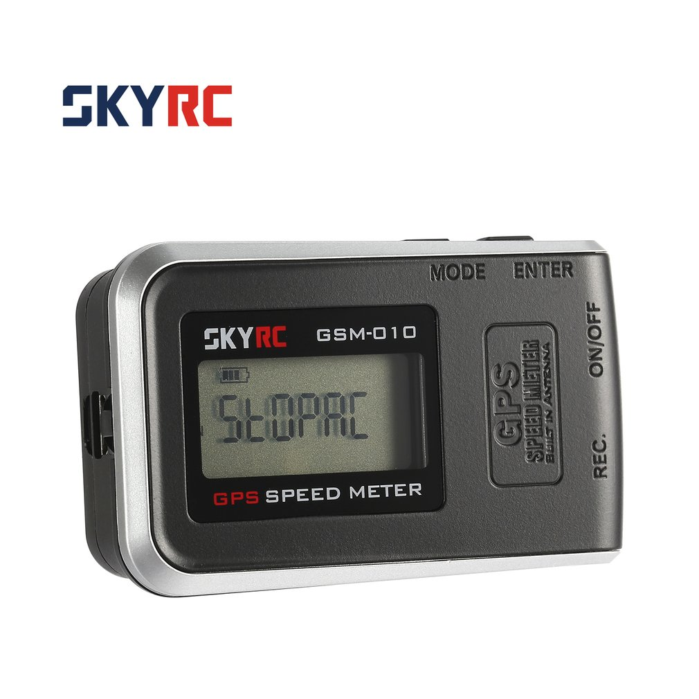 SKYRC GSM-010 Compact High Precision GPS Speed Meter Altimeter For RC Car Plane Helicopter Quadcopter with Lipo Battery RC Parts 7 16 gx12 aviation circular connector 2 pin 3pin 4pin 5pin 6pin 7pin male plug