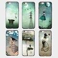 Женщина луны искусства сюрреалист графических телефон case для apple iphone 7 plus 7 5 5S 6 6 s 6 плюс тпу мягкий край твердый переплет с талреп