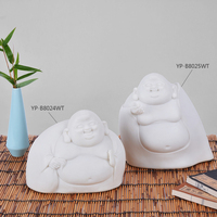 Lovely Resin Monk in White For Table Decoration Polyresin Figurine for Gifts Religious Resin Statue for Home Decoration Ornament