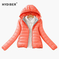 Zipper Hooded Women Winter Jacket 2017 New Brand Spring Autumn Slim Warm Coat Solid Color Short Ladies Padded Fashion Jacket