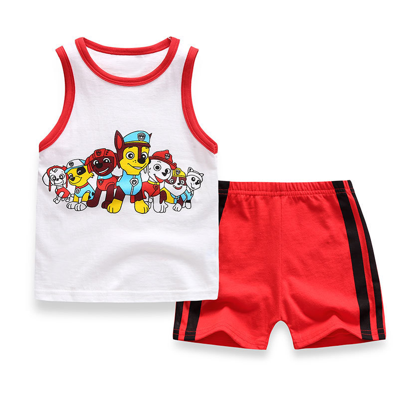 2018 New Summer Baby Boy Clothing Set Tank Top + Shorts Kid Boy Summer Set Children Boy Clothes Set Toddler Sleeveless striped 2pcs set baby clothes set boy
