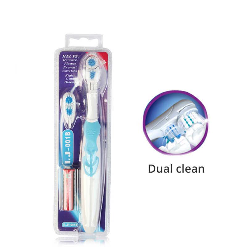 Электрический Зубная щётка Cross Action отбеливание зубов электрическая зубная щетка-Перезаряжаемые Батарея питание всего тела Водонепроницаемый