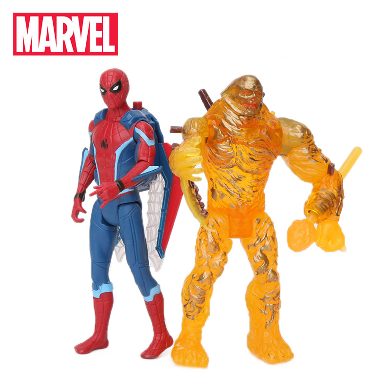 14cm Marvel Toys Avengers Spider-man Far From Home PVC Action Figure Spiderman Molten Man Peter Parker Collection Model Dolls
