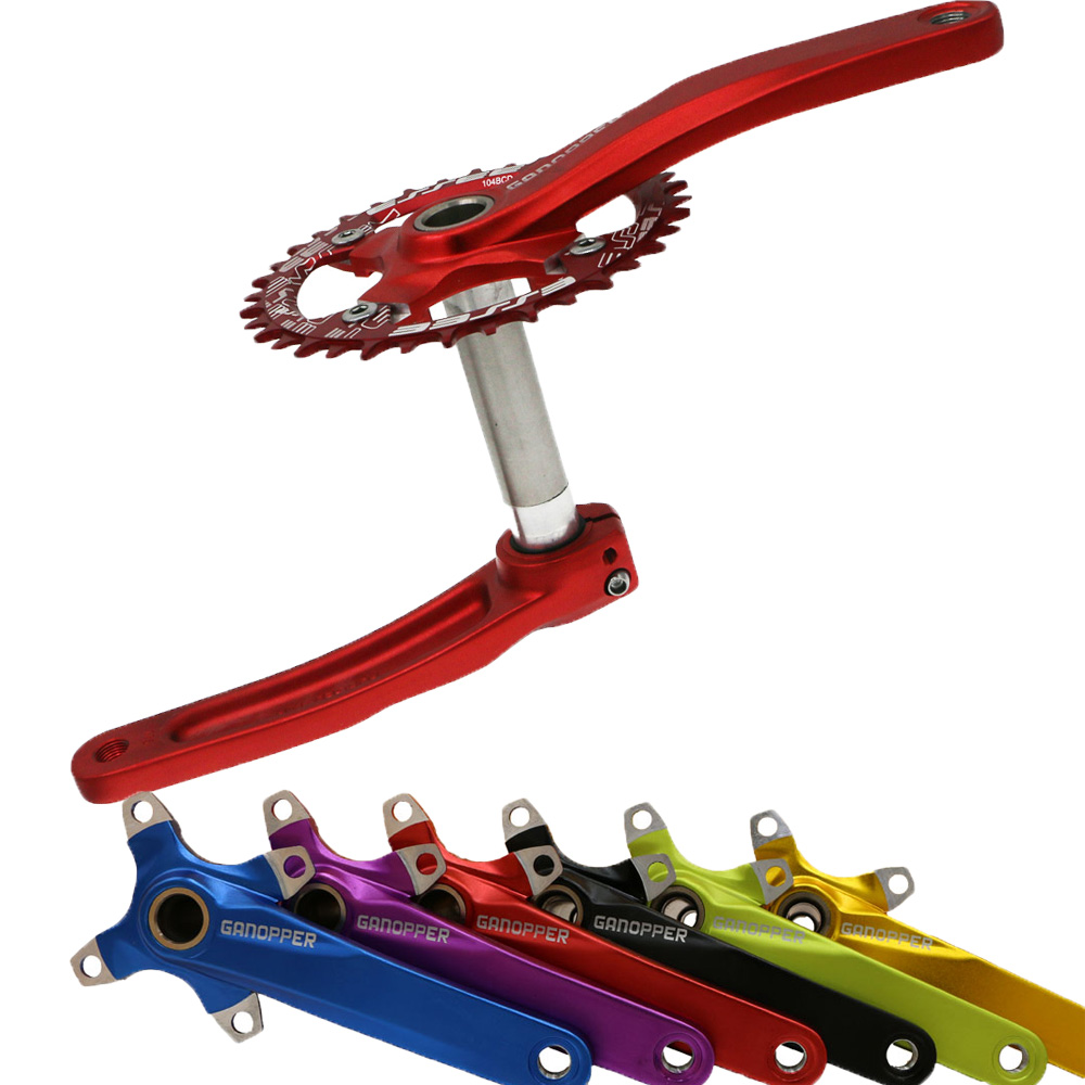 104BCD alloy aluminum road mountain bike 175mm crank suit sprocket set 68BB folding bike refit for