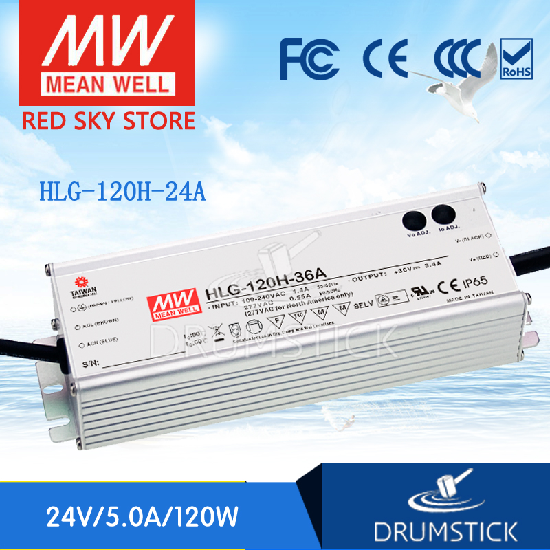 Advantages MEAN WELL HLG-120H-24A 24V 5A meanwell HLG-120H 120W Single Output LED Driver Power Supply A type [Real1]