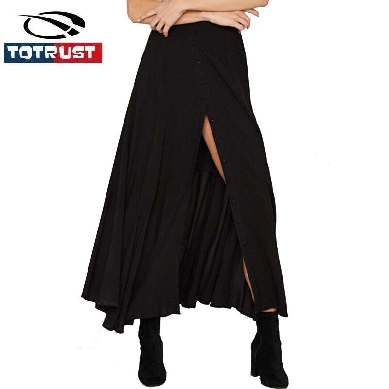 Slit Zwarte Lange Rok 2017 Mode Rokken Vrouwen Jupe Vintage Zoete Falda Lentejuelas Vrouwen Retro Rok met Schouderbanden Saia
