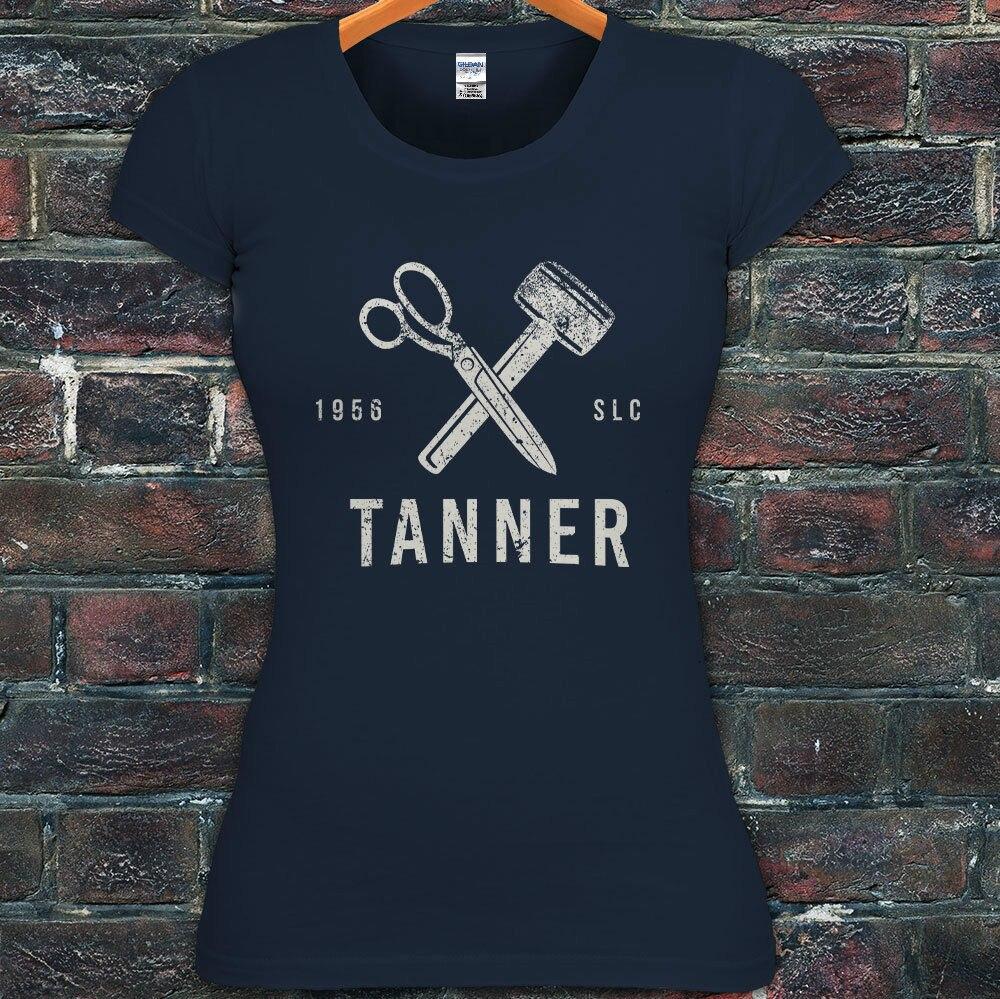 Design t shirt online tool - Design T Shirt Novelty Tops Leather Craftsman Leatherworker Mallet Tools Womens Navy T Shirt
