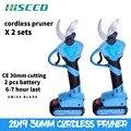 Cordless elétrica tesouras de poda secateur podadores mão alimentado por bateria sem fio li-ion