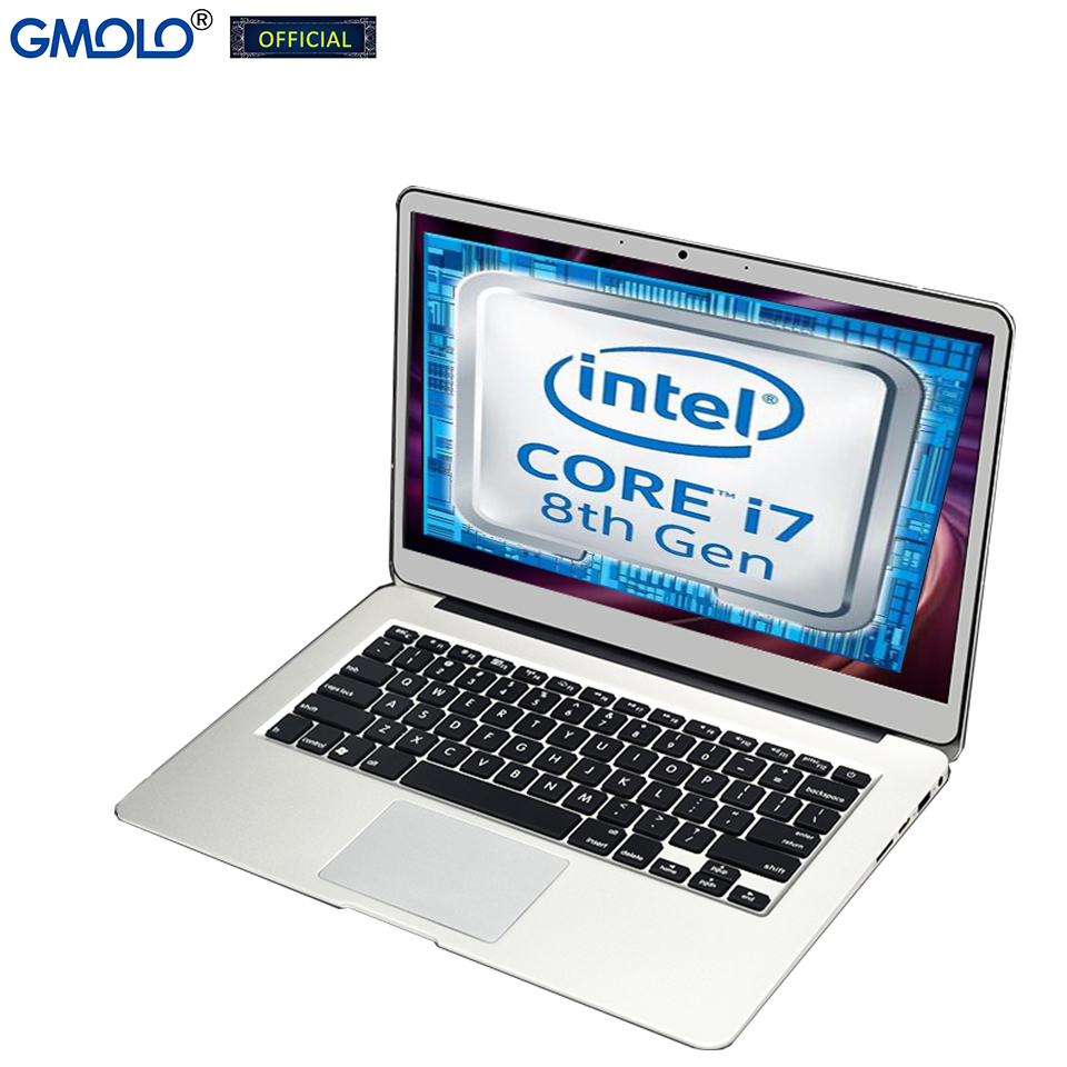 GMOLO 14inch Intel I7 8th Gen Quad-core / 4th Gen 16GB DDR4 or 8GB RAM 256GB/512GB SSD 1920*1080 IPS gamer metal laptop computer 1