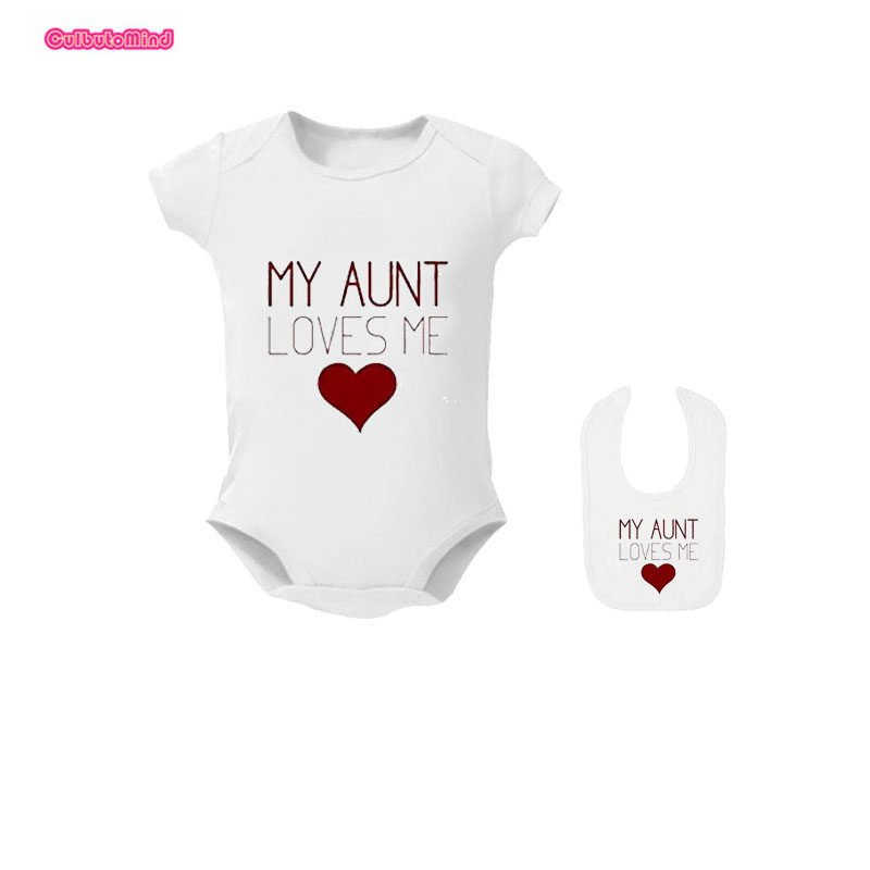 My Aunt and Uncle Love Me Baby Bodysuit for Baby Boy Girl