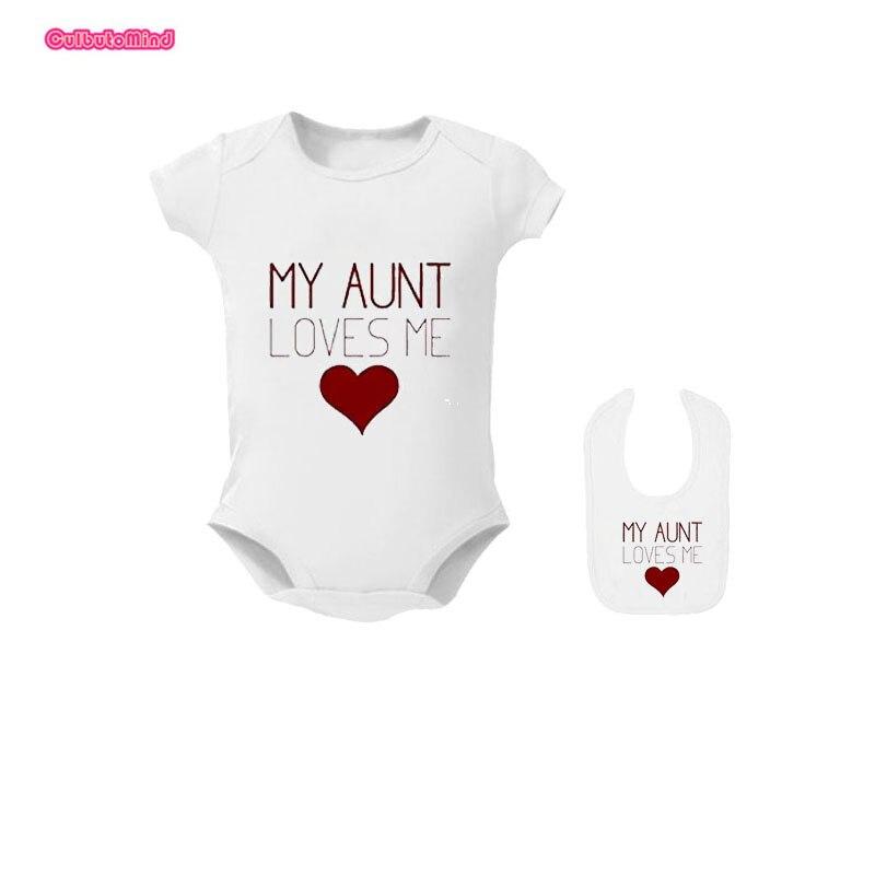 I Love My Auntie/'s Baby Grow Funny Heart Bodysuit Vest Body Suit Girl Boy