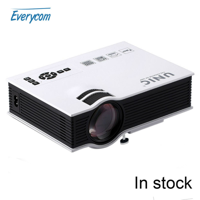 Original unic uc40 led projector hdmi 800lms 3d mini pico for Top rated pocket projectors