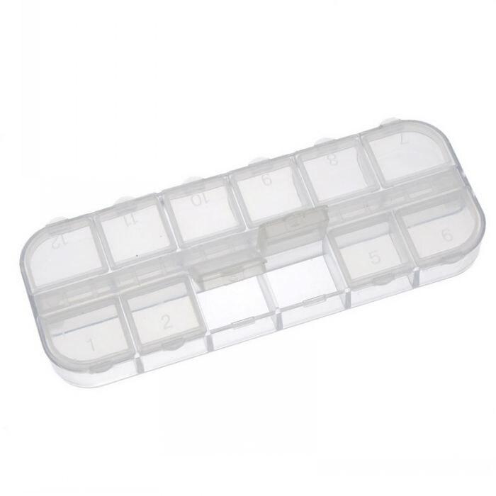Souarts Aufbewahrungsbox Plastik Schmuckschatulle Schmuckk/ästchen Transparent 5 F/ächer