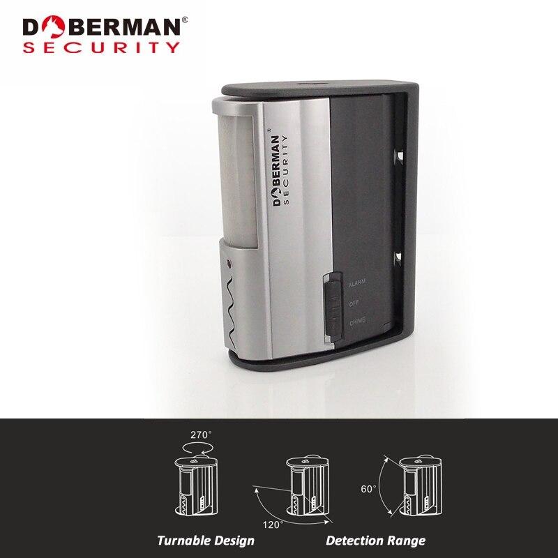 bilder für Doberman Sicherheit SE-0104 Infrarot Bewegungsmelder Alarm W/Chime IR motion Sensor Türklingel Alarm Willkommen Chime Home Security