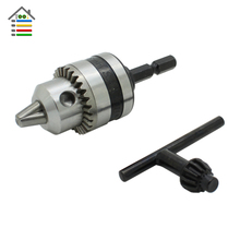 "1/4 "" Hex Shank Electric Drill Chucks Capacity 0.6 to 6mm Thread 3/8-24 UNF Adapter for Electric Hammer Power Tools Accessories"