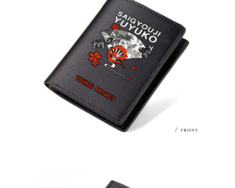 TOUHOU Project Wallet Hakurei Reimu Short Purse Nice Anime Kirisame Marisa Remilia Scarlet Wallets Kids (3)