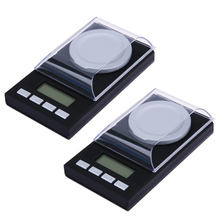 Buy 50g/0.001g LCD Digital Electronic Scale Lab Weight Milligram High Precision Measuring Weight Tools Medical Scale