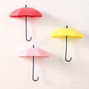 Image 4 - Wall hooks 2019 3pcs/set Cute Umbrella Wall Mount Key Holder Wall Hook Hanger Organizer Durable