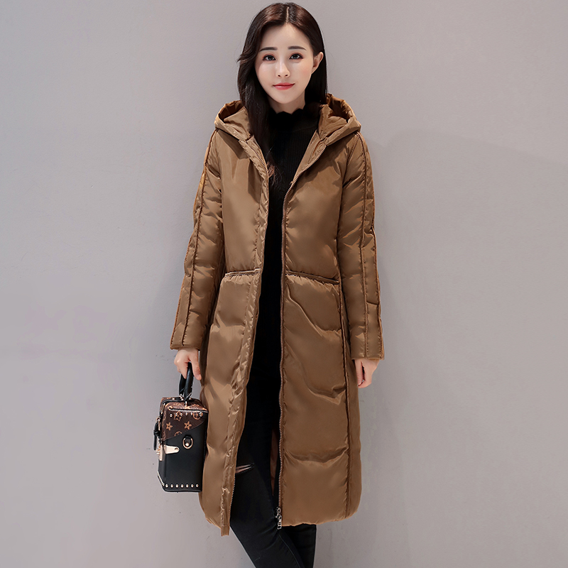 2017 New Women Long Winter Jacket Plus Size Warm Cotton-padded Jacket Hood Female Parkas Wadded  Jacket Outerwear Coats 5 Colors 2017 new women long winter jacket plus size warm cotton padded jacket hood female parkas wadded jacket outerwear coats 5 colors