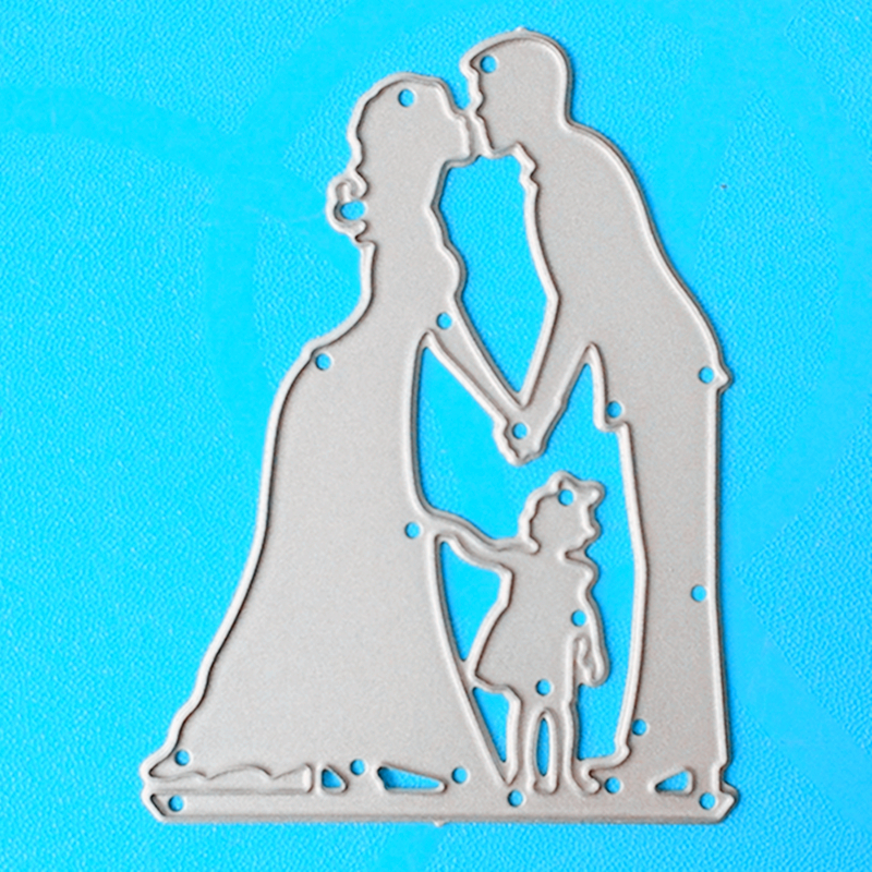 YLCD1015 Family Metal Cutting Dies For Scrapbooking Stencils DIY Album Cards Decoration Embossing Folder Die Cuts Template New