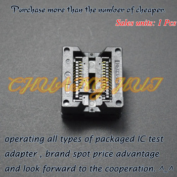IC TEST Detect 300mil SOP20 test socket OTS-20(28)-1.27-04 socket width SOIC20 Pitch=1.27mm apw7159 sop20