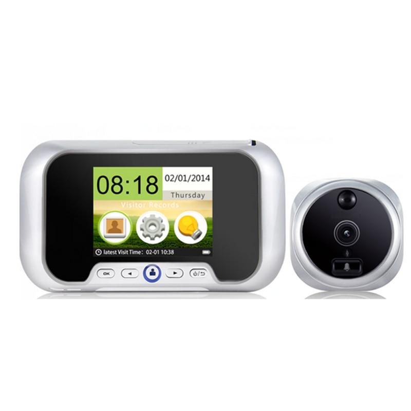 Güvenlik ve Koruma'ten Video Interkom'de Çoklu dil 2.8 inç video gözetleme kamerası IR Gece Görüş 0.3 M kapı kamera Fotoğraf Çekme VIDEO kapı zili kamera kapı zili title=
