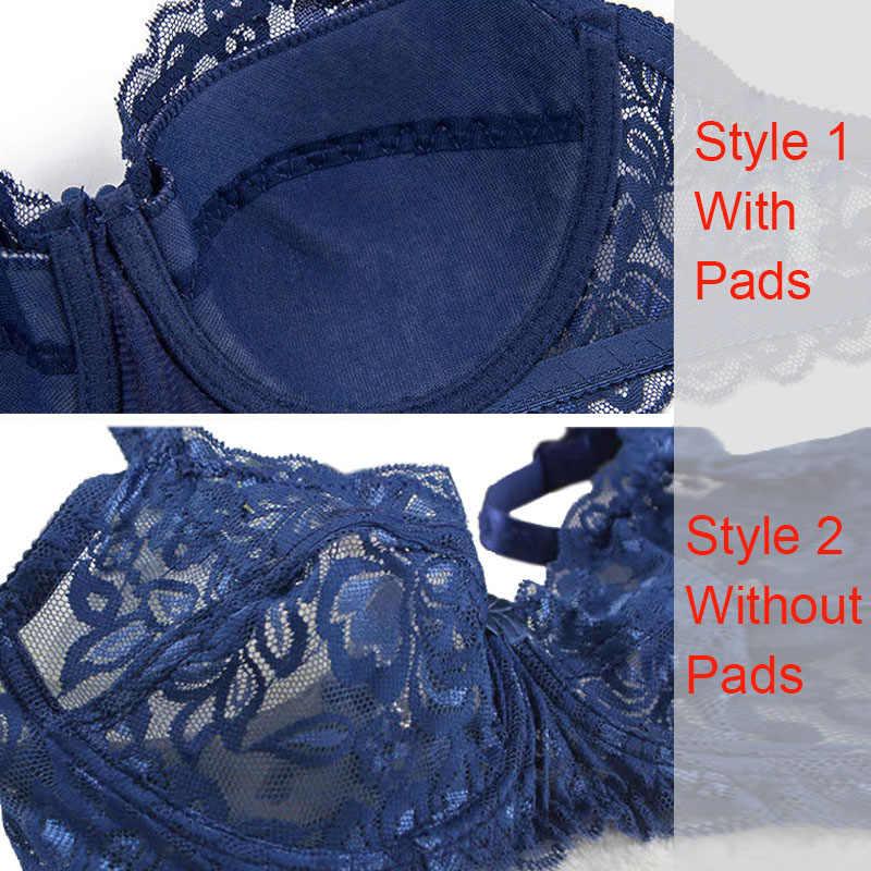 새로운 섹시한 레이스 bralette 브래지어 여성 속옷은 브래지어를 밀어 untra 얇은 편안한 통기성 브래지어 플러스 사이즈 여성 란제리 bh