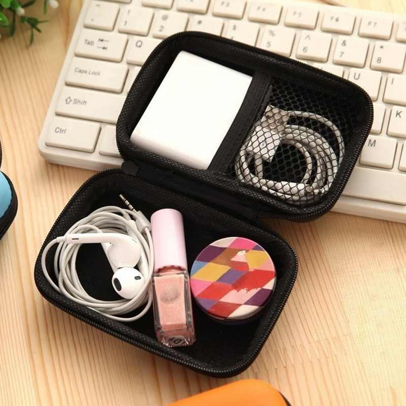 แบบพกพา Mini กระเป๋าสตางค์เหรียญกระเป๋าสตางค์ซิปหูฟังหูฟังสาย Usb Organizer Carte หูฟังกระเป๋า