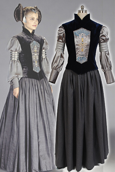 33a08923f ₩Star Wars Padme nacerrie Amidala camisa chaleco vestido conjunto ...