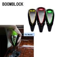 BOOMBLOCK Auto Gear Shift Knob Touch Sensor Colourful LED Light 5/6 Speed For Mazda 3 6 2 CX 5 CX5 CX 7 Car Logo Emblem