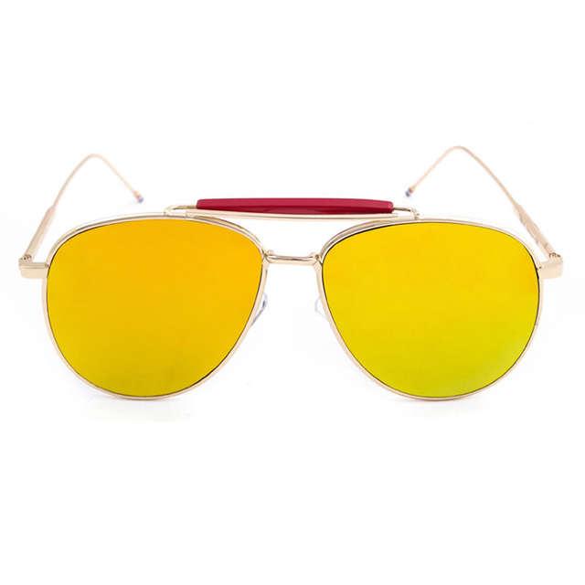 9697f1b04c1 placeholder New York Brand Thom Browne Classic Sunglasses TB015 Sunglasses  for Men and Women Pilot Mirror Coating
