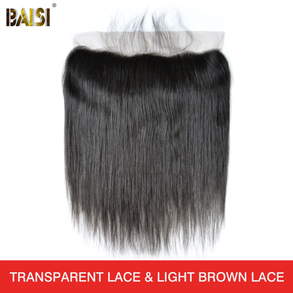 BAISI Hair Lace-Frontal Plucked Natural Brazilian Straight