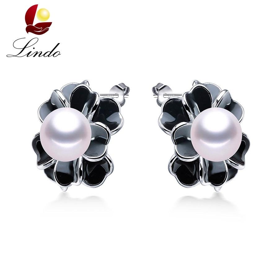 100% Solide S925 Sterling Silber Frauen Ring Mode Top Qualität Aaaaa Reale Natürliche Süßwasser Perle Blume Hochzeit Schmuck Lindo äRger LöSchen Und Durst LöSchen