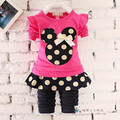 BibiCola 2017 cartoon minnie mouse children clothing sets baby girls clothes set infant sport suit set kids 2pcs Suit