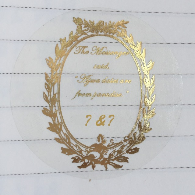 768badfa14e1 US $18.19 9% OFF 60 Personalized oval frame wedding circle sticker Foil  gold custom candle jar bottle waterproof label envelop seal box tag-in Gift  ...