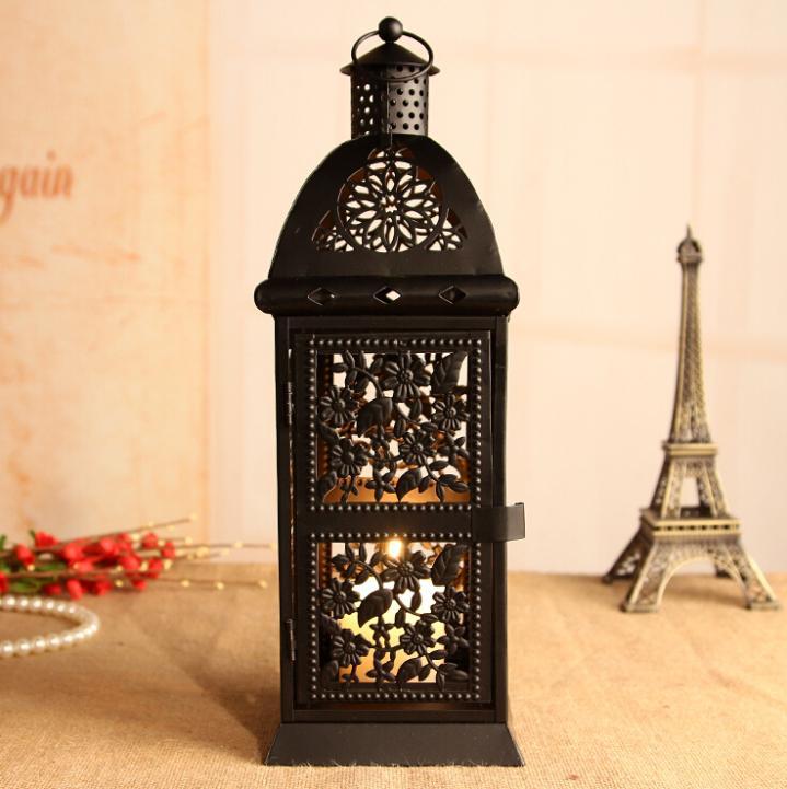 large negro retro metal vela titular de vela de luz de la lmpara hanging ty
