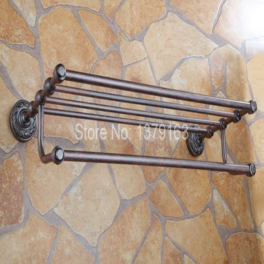 Bathroom Accessory Vintage Retro Red Copper Antique Brass Wall Mounted Bathroom Towel Rail Holder Storage Rack Shelf Bar aba150 artistic wall mounted retro style bath towel shelf antique brass bathroom towel holder towel bar