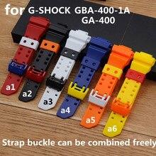Watch Accessories Applicable to Casio G-SHOCK GA-400-1A 1B  GA-400GB-1A9 Matte Black Resin Strap Men's Watch Strap casio ga 400gb 1a