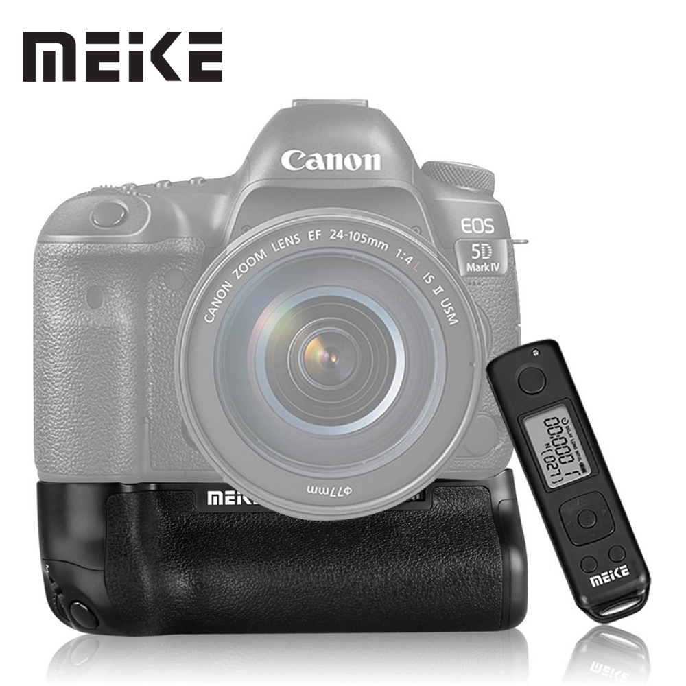 Meike MK-5DIV Pro Vertical Battery Grip with 2.4G Wireless Remote Control for Canon EOS 5D mark IV as BG-E20 meike mk dr750 built in 2 4g wireless control battery grip for nikon d750 as mb d16 wireless remote
