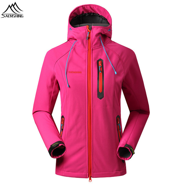 5891bc0fa SAENSHING Softshell Jacket Women Waterproof Outdoor Hiking Jacket Fleece  Thermal Windproof jackets Cycling Clothes High Quality