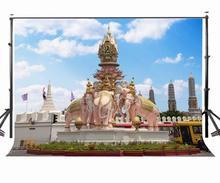 7x5ft Bangkok Sculpture Backdrop A Circle of Elephants Photography Background Studio Props dvicio bangkok