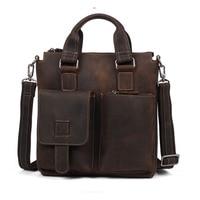 china Genuine Leather Men Bag Business Shoulder Bag Vintage Handbags High Quality For Natural cowhide Men Messenger Travel bag