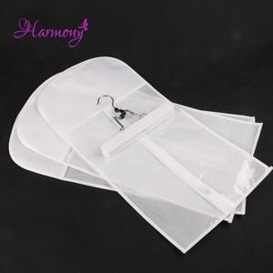 Porte-cheveux blanc 1 lot | Sac de valise et cintre, supports pour perruques, cintre pour Extensions de cheveux, sac pour Extensions de cheveux