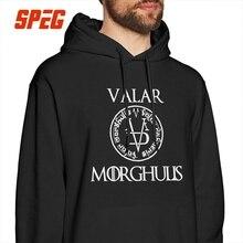 Vintage Game Of Thrones Hoodies for Men Arya Stark Valar Morghulis 100% Cotton Hooded Sweatshirt Printed Hoodie Shirt цена и фото