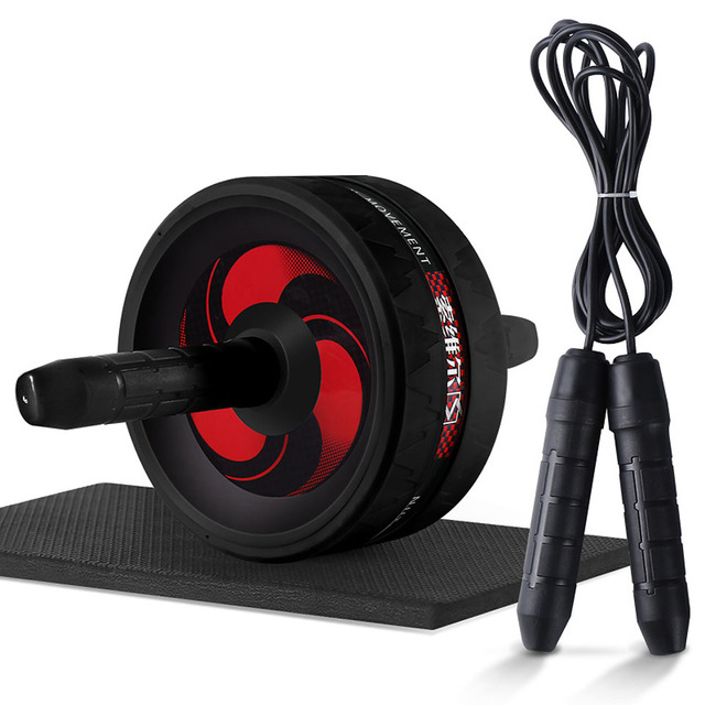 Roller&Jump Rope No Noise Abdominal Wheel Ab Roller with Mat  For Exercise Fitness Equipment Accessories Body Building 5