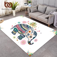 BeddingOutlet Elephant Large Carpet Rainbow Mandala Area Rugs For Living Room Bohemian Anti slip Play Mat Floral tapis 152x244cm
