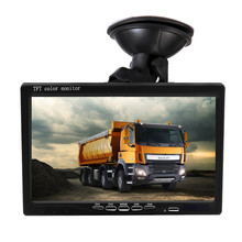 купить 7 HD Quad Split Monitor + 4 Backup Camera Kit Waterproof IR Night Vision Front Rear Side View Cameras for Trailer дешево