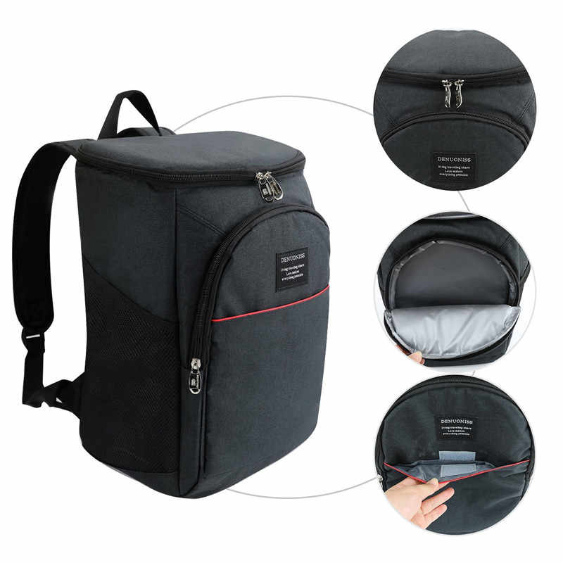6ead9d72f5d9 20L Large Capacity Portable Cooler Backpack Soft Insulated Cooler ...