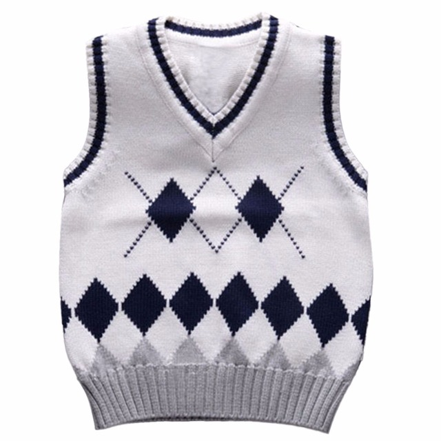 2fbb3a97d264 2 6 Years Baby Boys Knitted Vest Children Cardigan School Uniforms ...